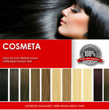 COSMETA Pre bonded Keratin AAAA 100% Remy Hair Extensions U Tip Straight