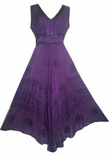 1011 D  Wedding Evening Party Gothic Renaissance Sleveless Wide Strap Dress