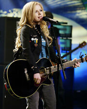 AVRIL LAVIGNE WITH GUITAR IN CONCERT COLOR PHOTO OR POSTER