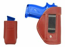 New Barsony Burgundy Leather IWB Holster + Mag Pouch Walther SIG Mini 22 25 380