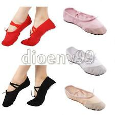 Child Adult CANVAS BALLET DANCE SHOES SLIPPERS Canvas Pointe Gymnastics Fitness