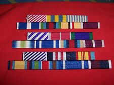 MEDAL RIBBON BAR - 2 SPACE FULL SIZE - PINNED or STUDDED or SEWN