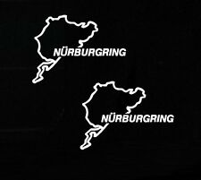 2 x Nurburgring Track Decal Sticker Outline Vinyl Race Track iPad Car Window