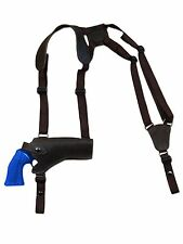 "NEW Barsony Brown Leather Horizontal Gun Shoulder Holster for Ruger 4"" Revolvers"