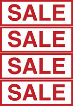 12x SALE SHOP SIGN WINDOW/WALL FULL COLOUR STICKER DECALS FOR BUSINESS 15x5cm
