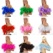 2M FEATHER USEFUL BOA FLUFFY CRAFT HOT COSTUME DRESSUP WEDDING PARTY HOME DECOR
