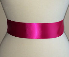Fuchsia Pink Ribbon Bridal Dress Sash