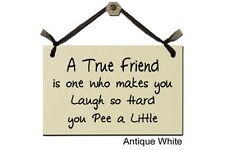 A True Friend is one who makes you Laugh so Hard you Pee a Little - Sign