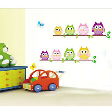 New DIY Removable Cute Multi-expression Owl Branch Children's Room Wall Sticker