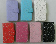 Diamond Bling Sparkly Flip Magnetic Wallet PU Leather Case Cover for LG phone