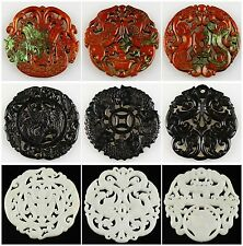 0775 Carved Sinkiang jade kinds of shaped pendant bead