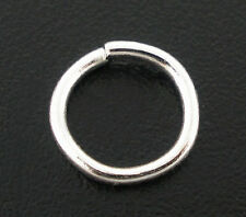 Wholesale New Silver Plated HOTSELL Open Jump Rings 8x1mm Findings
