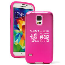 For Samsung S3 S4 S5 Aluminum Silicone Hard Case Princess Wears Boots Cowgirl