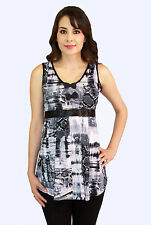 Black White Bow Maternity Blouse Womens Sleeveless Tank  Top S M L XL