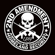 2nd Amendment Gun Vinyl Decal Sticker Truck Diesel Car Hunting 4x4 Funny iPad