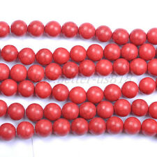 Red Turquoise Round Charms Loose Spacer BEADS - Choose 6MM 8MM 10MM 12MM 14MM