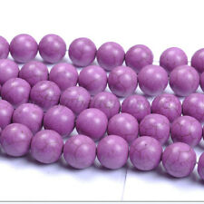 Purple Turquoise Round Charms Loose Spacer BEADS Choose - 6MM 8MM 10MM 12MM 14MM