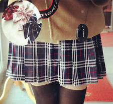 Japanese School Girls Solid Pleated Mini Uniform Skirt Sailor Dress JK with Bow