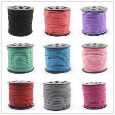 3x 1.5mm Wholesale Faux Suede Cord Leather Lace Jewelry Making Beading Thread