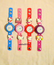 HELLO KITTY JIBBITZ BAND WATCH & 2 CHARMS, BOX AVAILABLE IF REQUIRED
