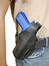 New Barsony Black Leather Pancake Gun Holster for Ruger Star Full Size 9mm 40 45