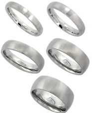 3mm-8mm Stainless Steel Comfort Fit Matte Finish Dome Wedding Band Thumb Ring