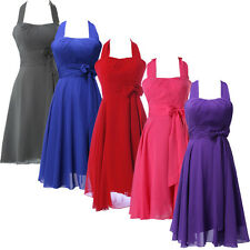 ❤Clearance❤1 New Halter Formal Cocktail Party EVENING Wedding Bridesmaid Dresses