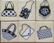 """""""LITTLE PURSE DESIGNS""""  RUBBER STAMPS ~ FASHION & SHOPPING ~ YOUR CHOICE!"""