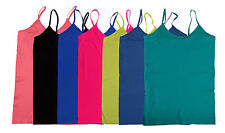 Basic Long Tunic Cami Camisole Spaghetti Strap Tank Top Stretch