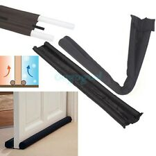 Black Brown Twin Door Draft Dodger Guard Brown Stopper Energy Saving Doorstop