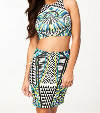 2014 summer women casual Enchanting Tribal Front Skirt Set Clothing Set LC21510