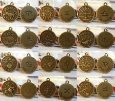 New best-selling 1set(12 constellation) Antique Bronze Zodiac Charm Object code