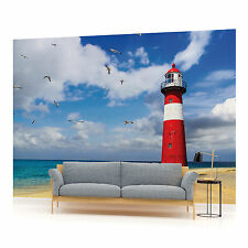 Lighthouse Beach Photo Wallpaper Wall Mural (CN-1329VE)