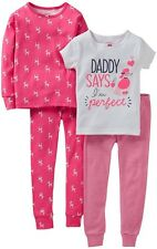 Carters Kids Toddler Girls 4PC Puppy Poodle Sleeping Bedtime Pajama Set NEW