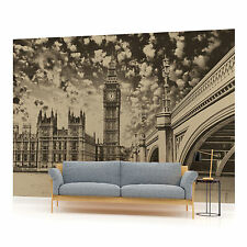 London Houses of Parliament Vintage Photo Wallpaper Wall Mural (CN-845P)