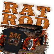 Rat Rod T-Shirt Hot Motorworks US V8 Chevy Ford VW Flames Route 66 Gr.S-XL