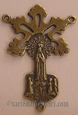 Sterling Silver or True Bronze Antique Rosary Parts Lady Fatima Center #1238