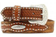 Nocona Western Mens Belt Leather Hair Studded Rich Earth N2500408