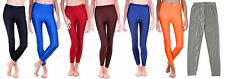 Shiny High Waisted Stretchy Solid Disco Dance Leggings Slim Pants