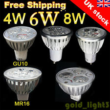 Buy 8 Get 2 Free 4/10x GU10/MR16 4/6/8W LED Bulbs Day/Warm White Spot Light Bulb