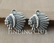 Free shipping 20pc classics Indian Chief Charm Native American Charms  A48/440