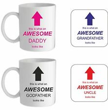 AWESOME MUG/COASTER, BIRTHDAY CHRISTMAS VALENTINE'S FATHERS DAY CHRISTENING GIFT