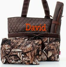 Personalized Mossy Oak Camo Quilted 3Pcs Set Diaper Bag FREE MONOGRAM Embroidery