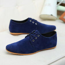 New Men fashion Casual suede Soft Lace Up Loafers Sneakers Sport Shoes NX793