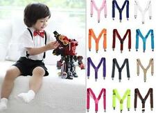 HU US New Children Kids Boy Girls Clip-on Suspenders Elastic Adjustable Braces