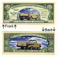 1957 Dollars Classic Car Chevy Bill Notes 1 5 25 50 100 500 or 1000