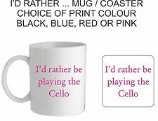 I'D RATHER BE PLAYING THE MUG/COASTER, MOTHERS/FATHERS DAY,BIRTHDAY,CHRISTMAS