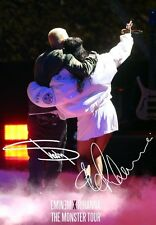 EMINEM RIHANNA The Monster Tour 2014 SIGNED Autographed PHOTO Print POSTER 001