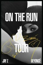 JAY Z BEYONCE On The Run Tour 2014 SIGNED Autographed PHOTO Print POSTER CD 001