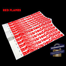 500 x Tyvek Party, Event, ID Wristbands Flames *5 COLOURS AVAILABLE*